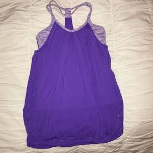 Ivivva purple and pink double Dutch tank